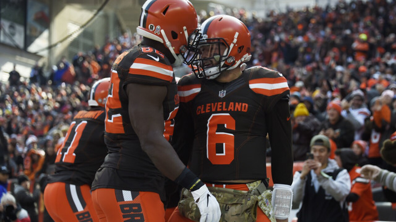 eec257a7a Baker s boys  Mayfield has Browns believing dark days over