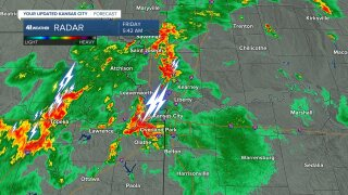 5:45 AM Thunderstorms In KC