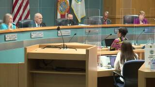Dr. Alina Alonso speaks about coronavirus in front of Palm Beach County commissioners