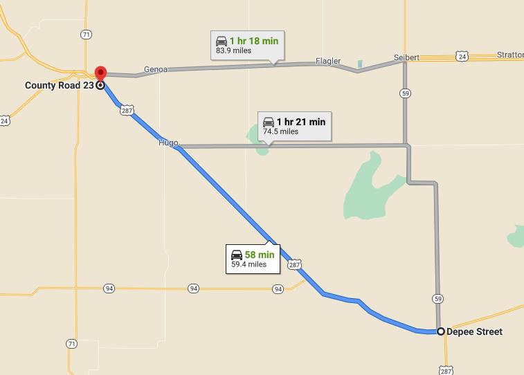 US 40 closure between Limon and Kit Carson_May 20 2021