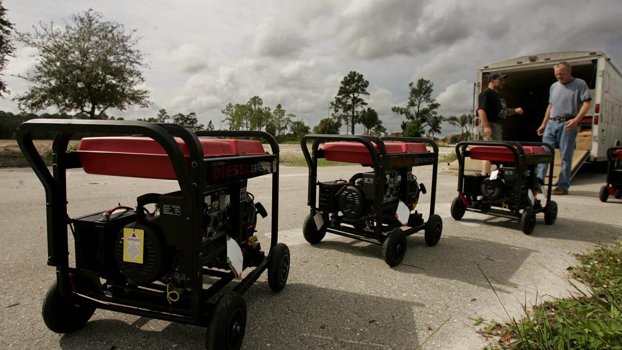 generators for sale in hours before Hurricane Wilma in 2005