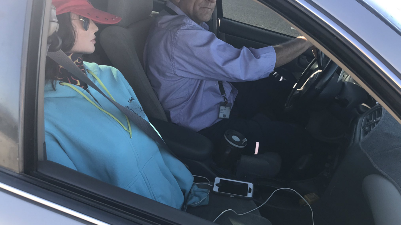 DPS busts driver for having dummy as passenger in HOV lane