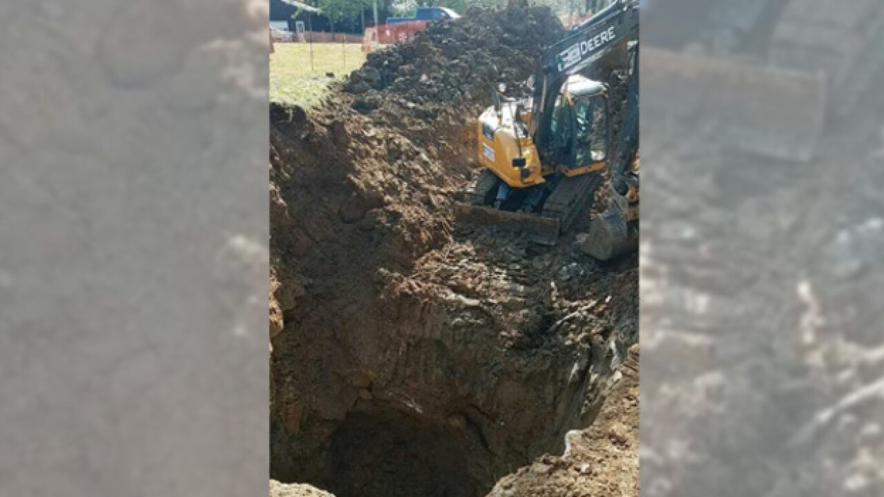 Hermitage homeowner faces kinks after sinkhole