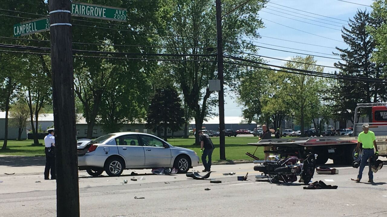 Police: Motorcyclist suffered life-threatening injuries in crash