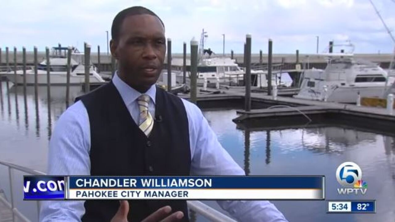 Chandler Williamson, Pahokee City Manager with super