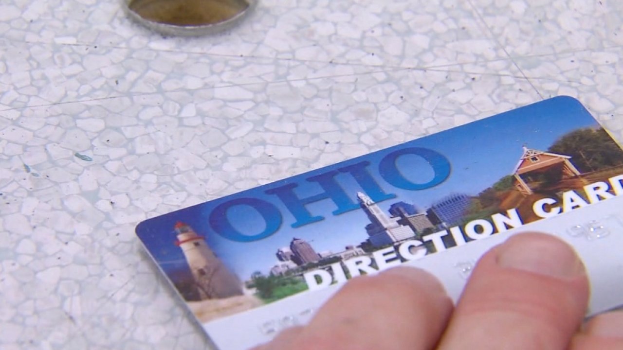 Ohio Direction Card