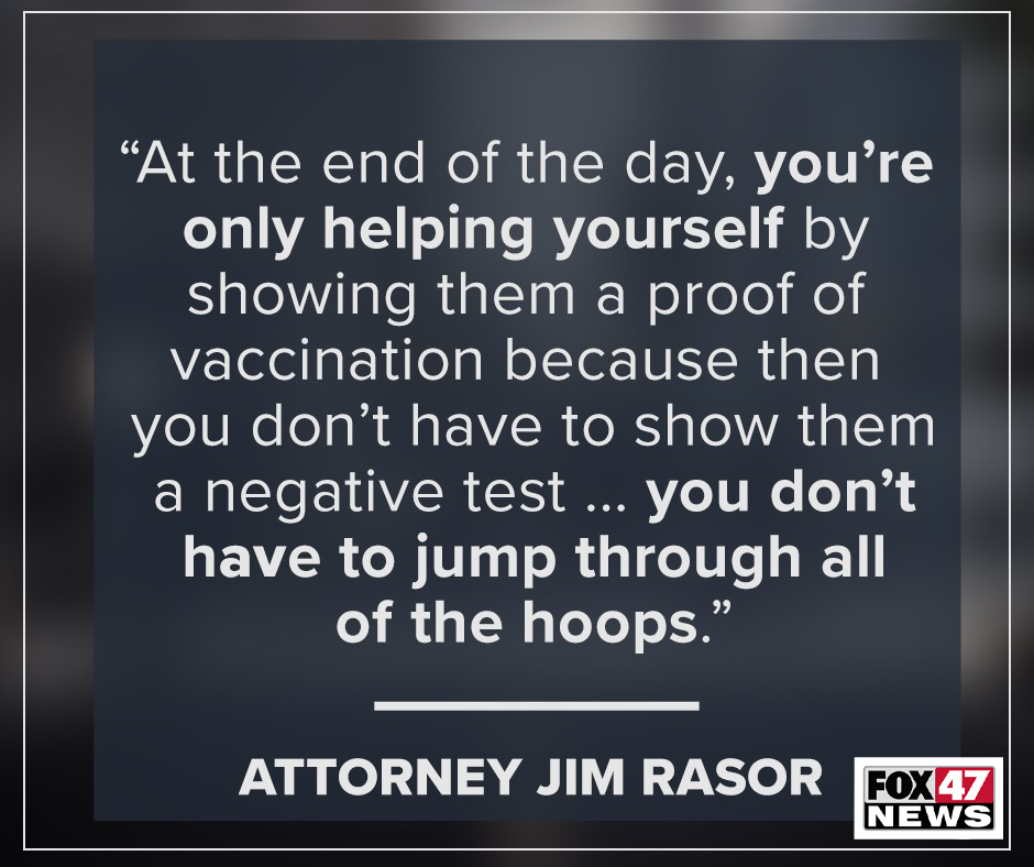 Attorney Jim Rasor on HIPAA and COVID Vaccinations at work