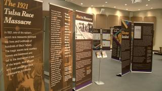 PHOTO: Rudisill library Tulsa Race Massacre exhibit