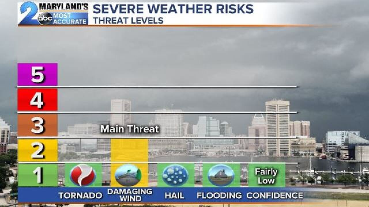 LOW END RISK: Severe Threat Wednesday Evening