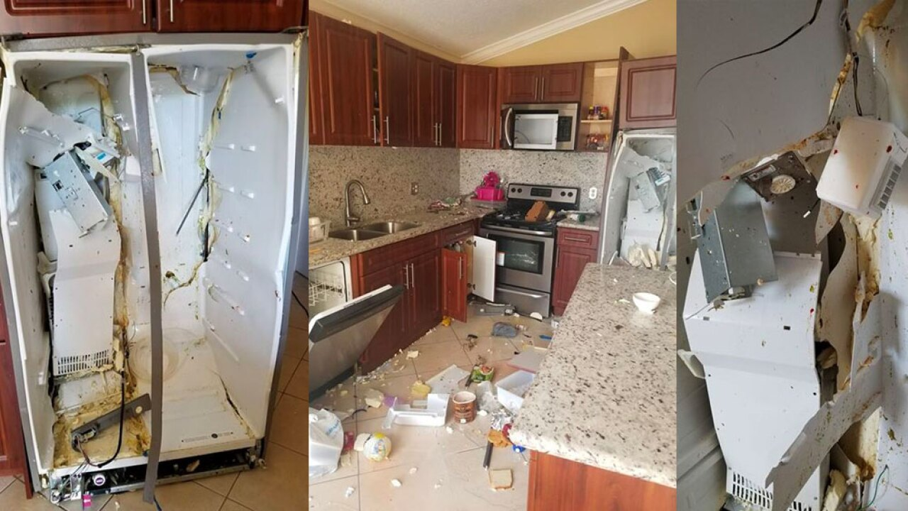 A Florida family's Whirlpool refrigerator exploded inside their home