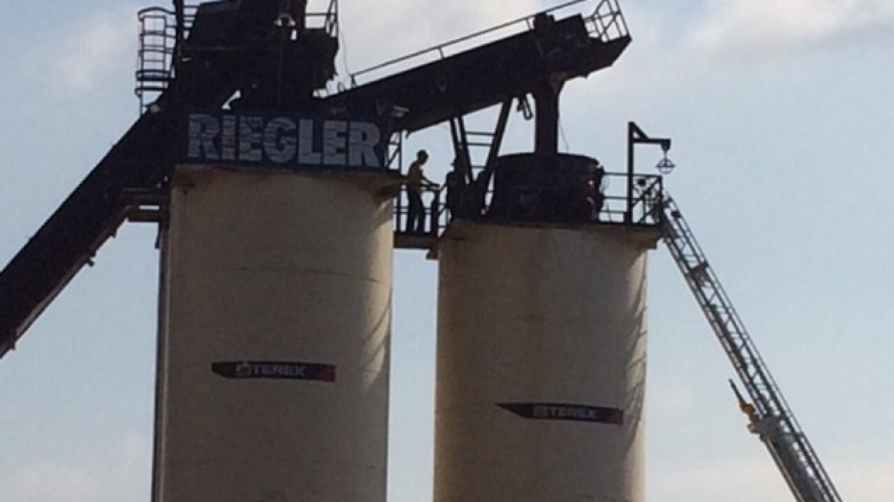 Man trapped in asphalt silo in NKY