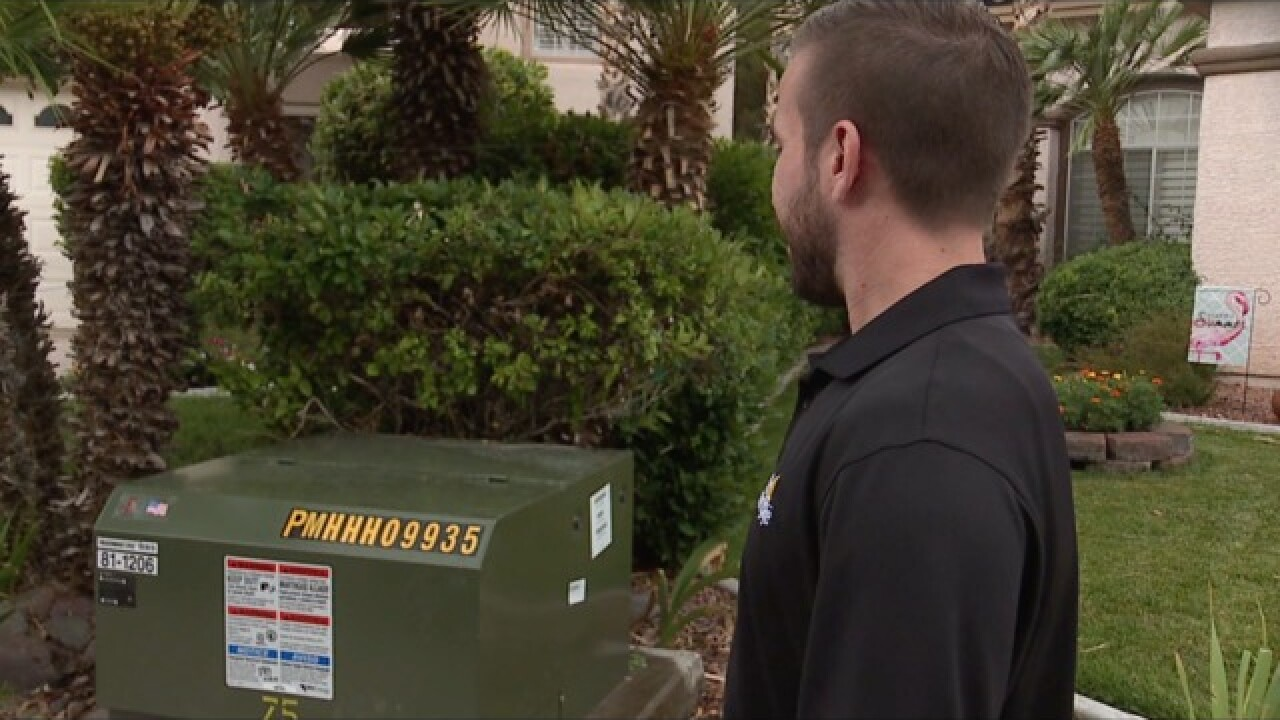 Mineral oil leaks from Henderson transformer