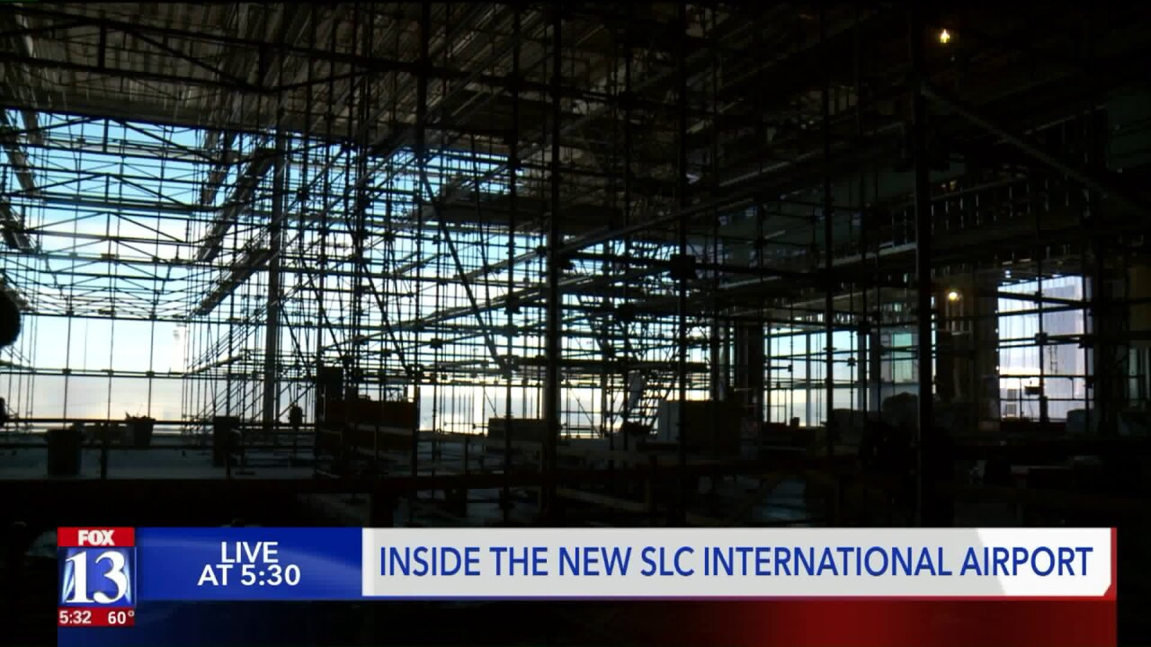 Take a look inside the new SLC InternationalAirport