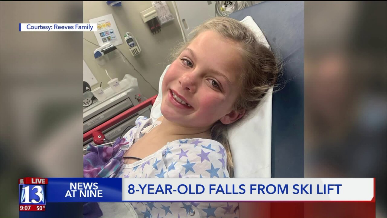 Girl falls from chairlift in Park City, parents say it would be a 'different story' if she didn't have onhelmet
