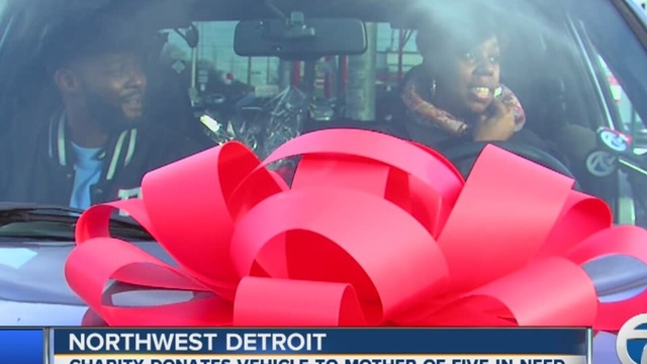 Mother surprised by gift of new vehicle
