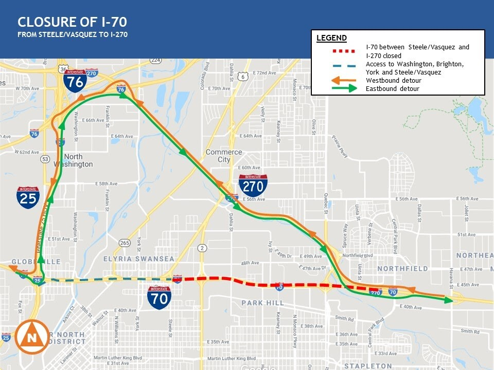I-70 closure for June 2020 weekend_Central 70 project