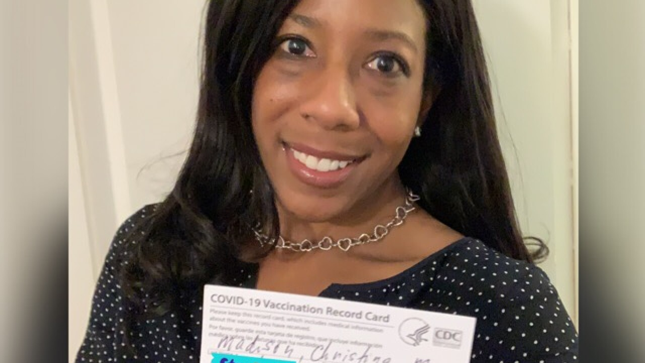 Dr. Christina Madison recently documented the occasion when she received her COVID-19 vaccine.