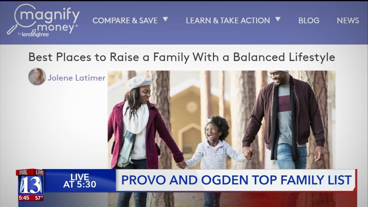 Provo and Ogden best cities in America for raising families, says consumer website