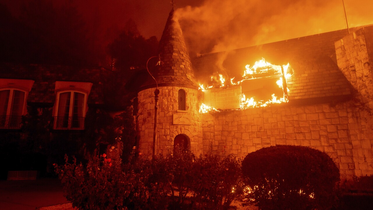 Napa's Chateau Boswell burns in latest California wildfire
