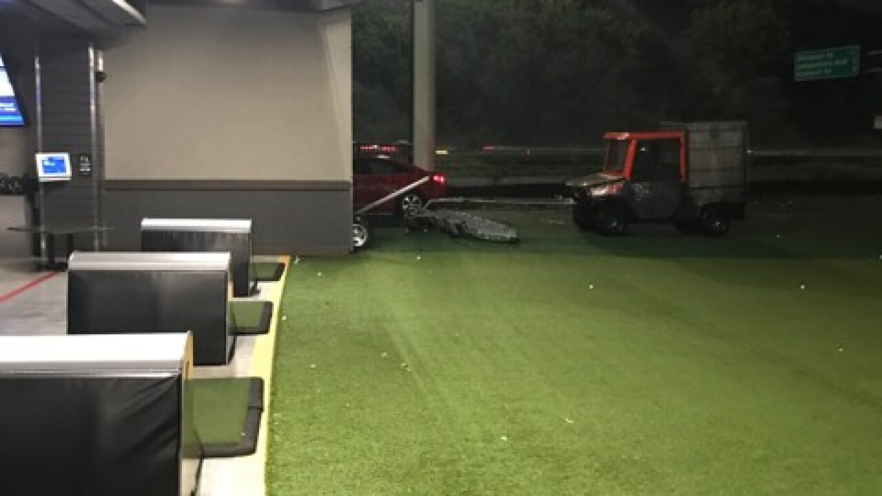 Man charged with DUI after driving onto field at Virginia Beach Top Golf, policesay