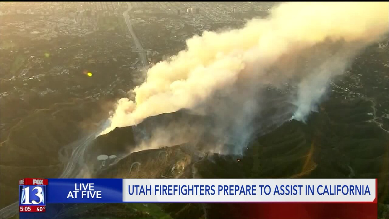 20 fire engines from Utah waiting for the 'green light' before heading to California
