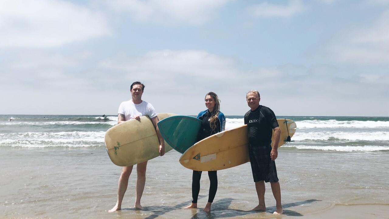 Katie Malone 2019 surfing