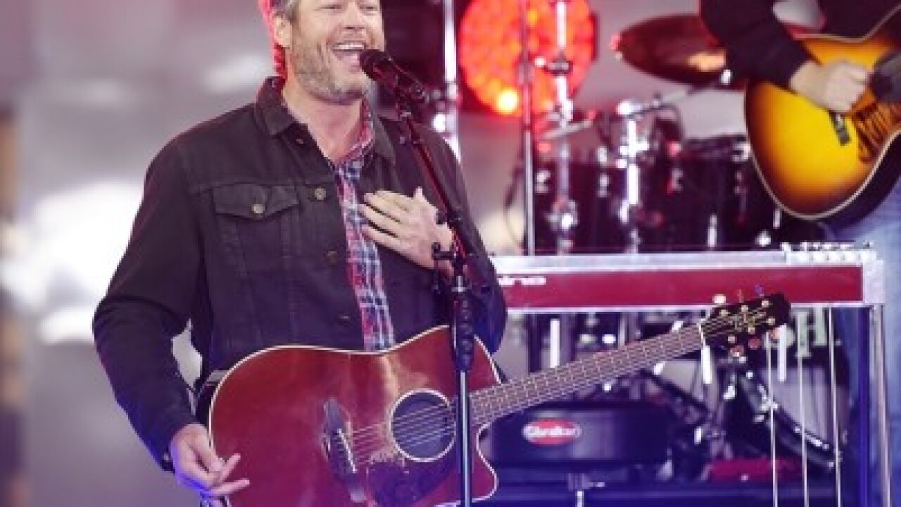 Blake Shelton to perform March 20 at Fiserv Forum