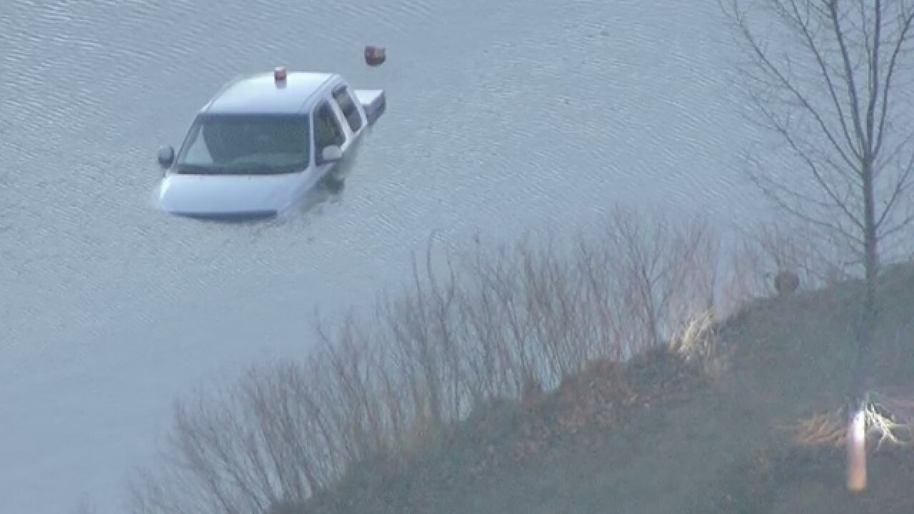 Truck found submerged in Denver park
