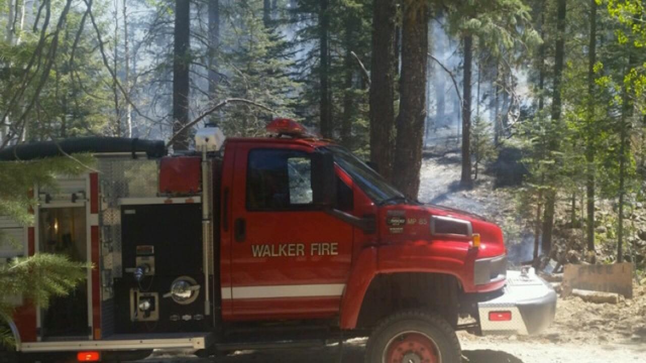 Wildfire threatening residents in Walker, Ariz.