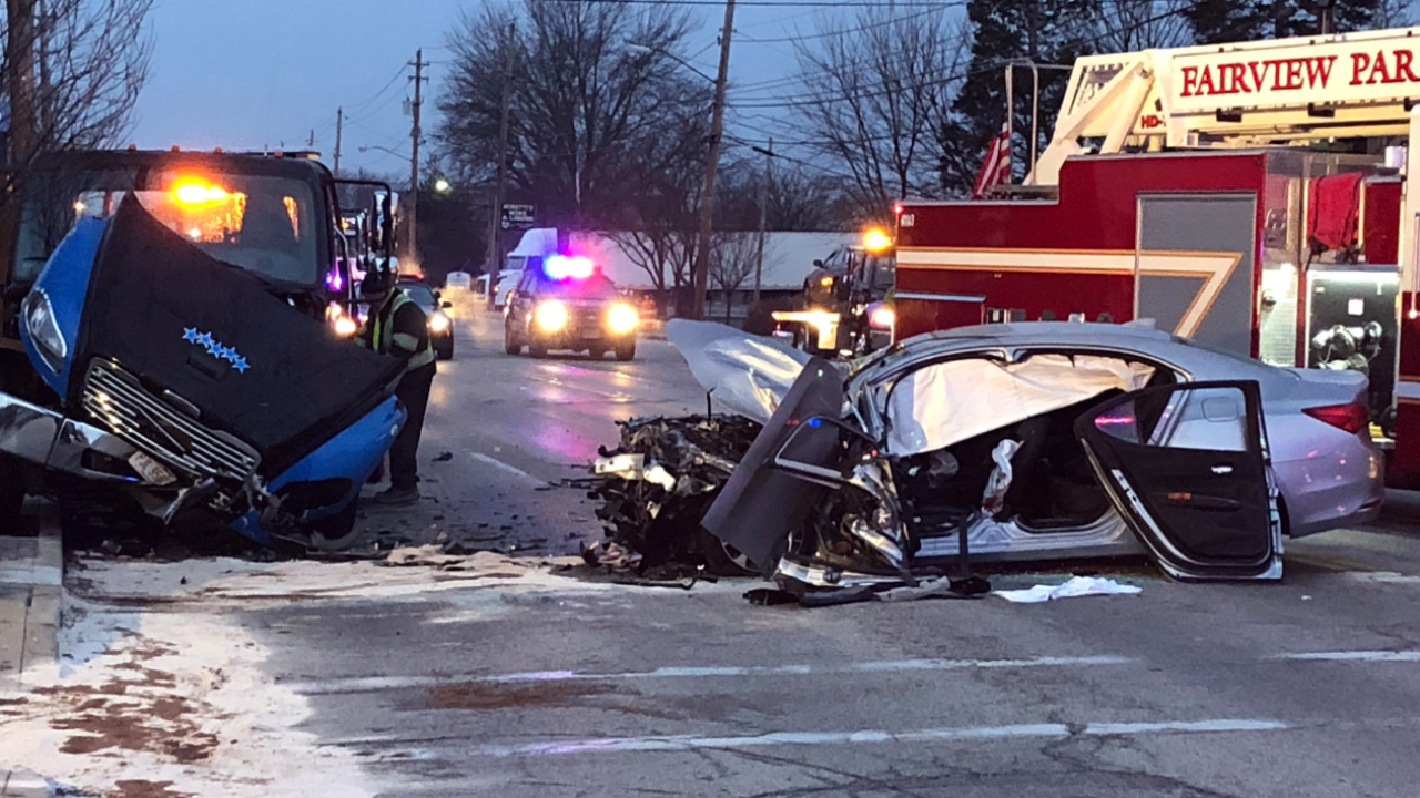 2 hospitalized after driver crashes head-on into tow truck
