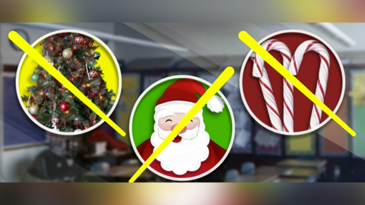 Elementary school principal on administrative leave after banning Christmas class decorations