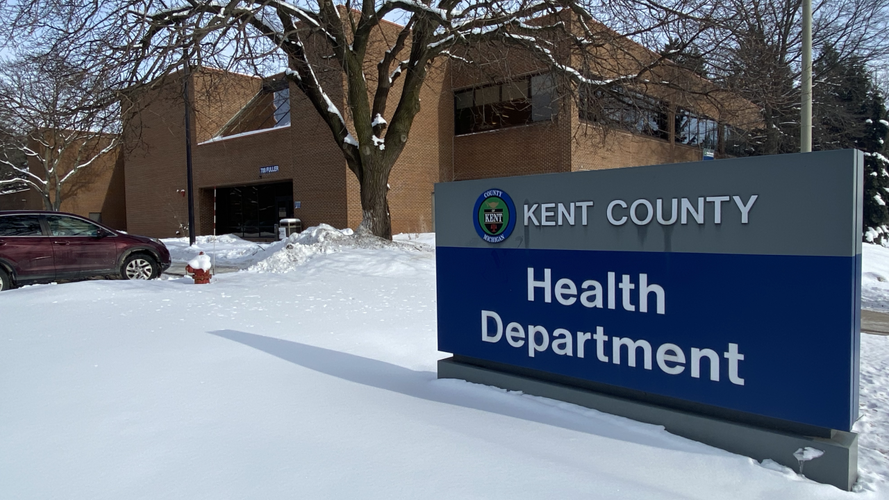 Kent Co Health Dept with snow