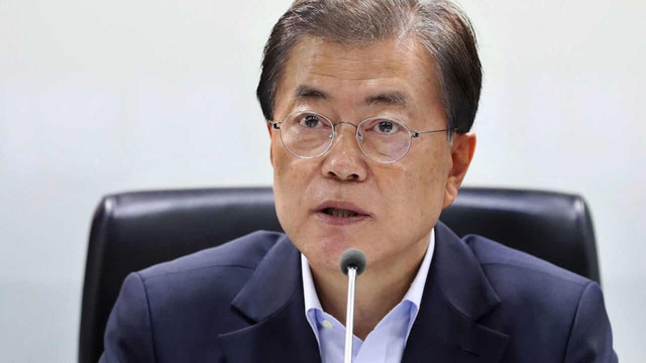 South Korean president says he'll meet North Korea's Kim 'any time, any place'