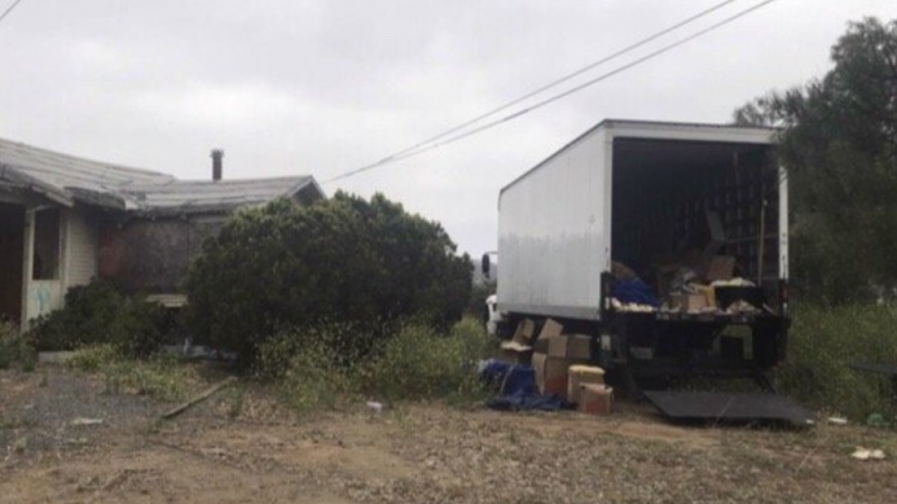 Moving truck stolen, husband's ashes missing