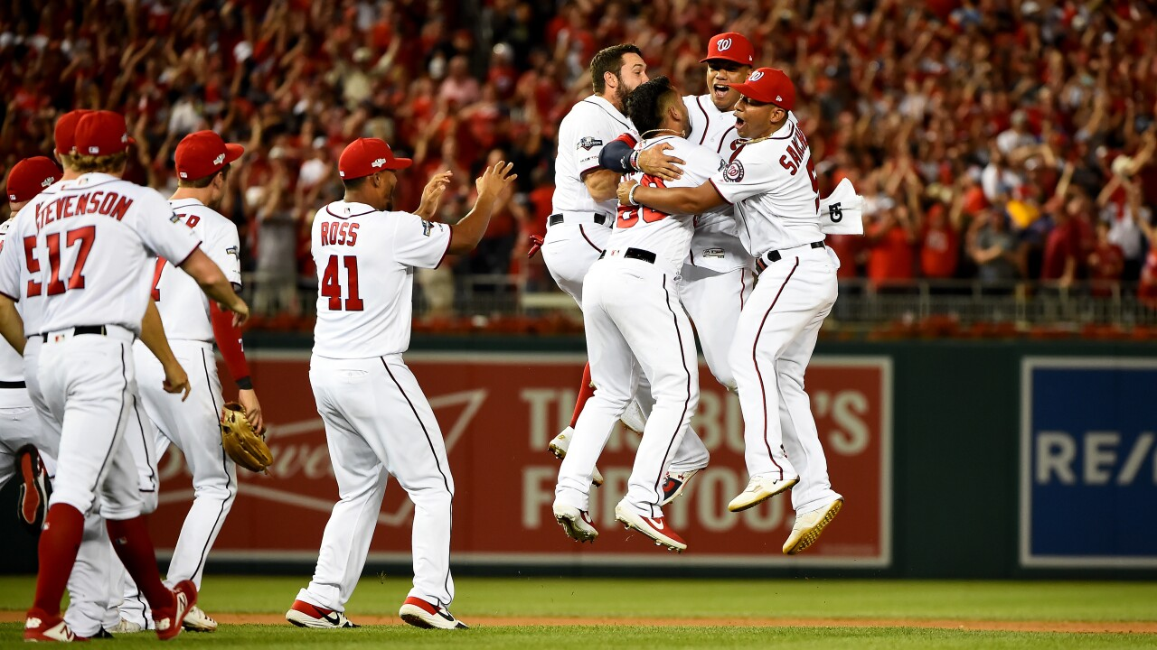 Washington Nationals advance in MLB playoffs for first time in team history