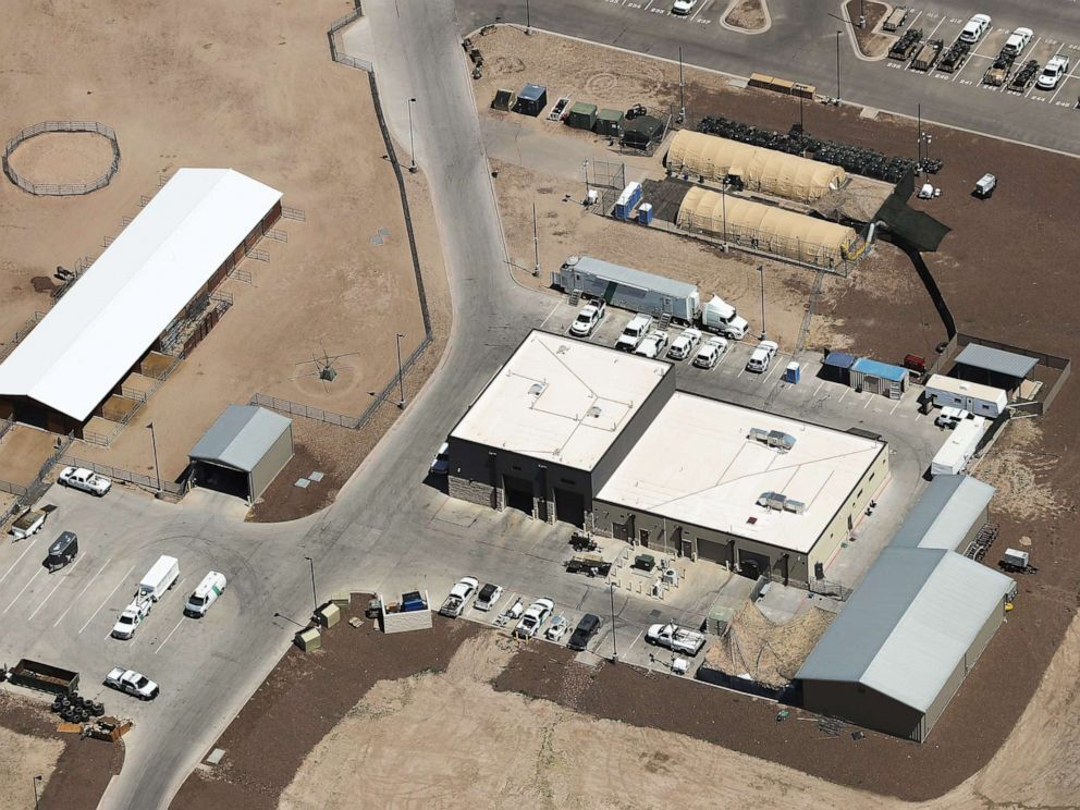 An aerial view of U.S. Border Patrol station facilities on June 28, 2019 in Clint, Texas (Mario Tama/Getty Images).