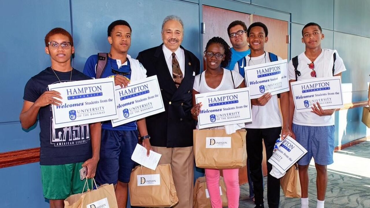 Wednesday marks first day of classes at Hampton University for displaced Bahamianstudents