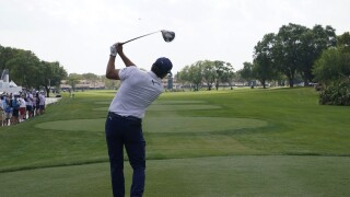 Rickie Fowler tees off from fourth hole during opening round of 2021 Honda Classic