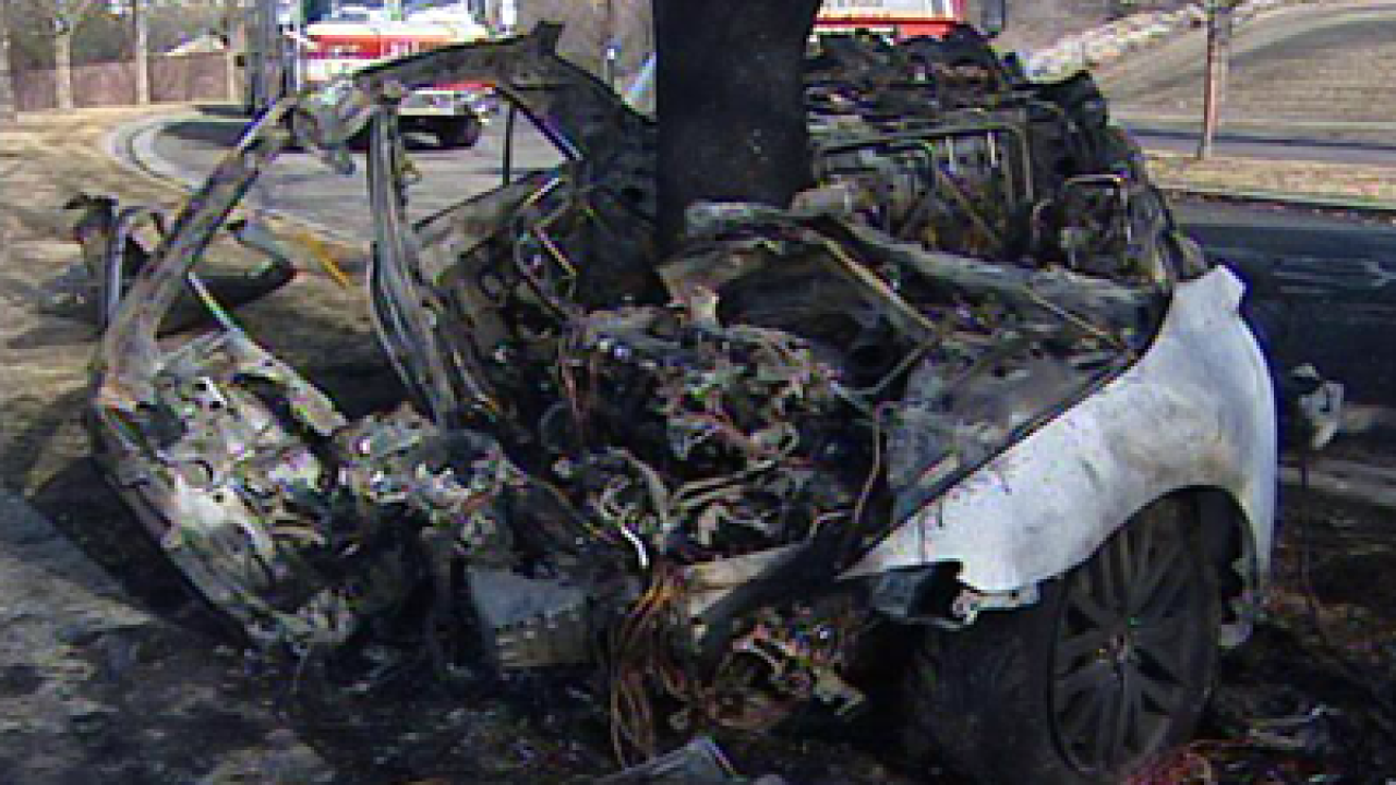 Two dead after fiery overnight crash