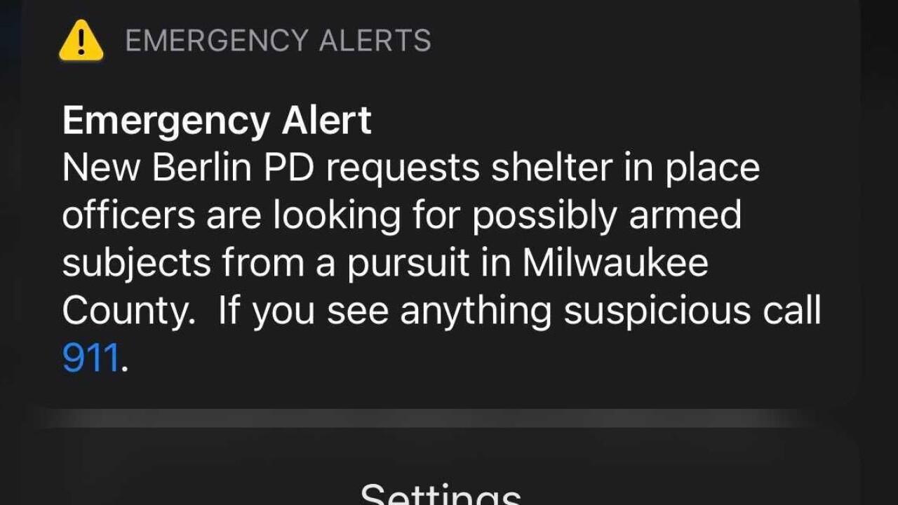 The emergency alert