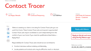 Contact tracers needed in Nevada