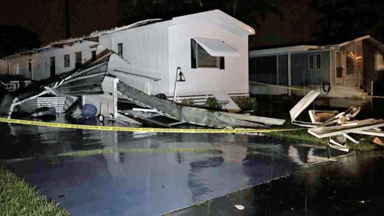 2 confirmed tornadoes in Palm Beach County; 3rd one possible near downtown West Palm Beach