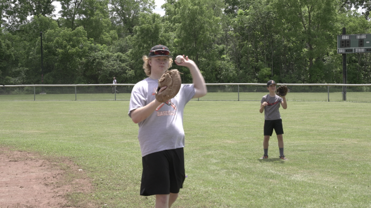 Baseball camp at King Center