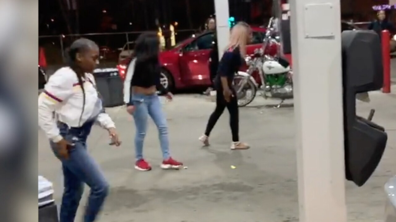 Fight over hot dog leads to wild brawl caught on video at Akron gas station
