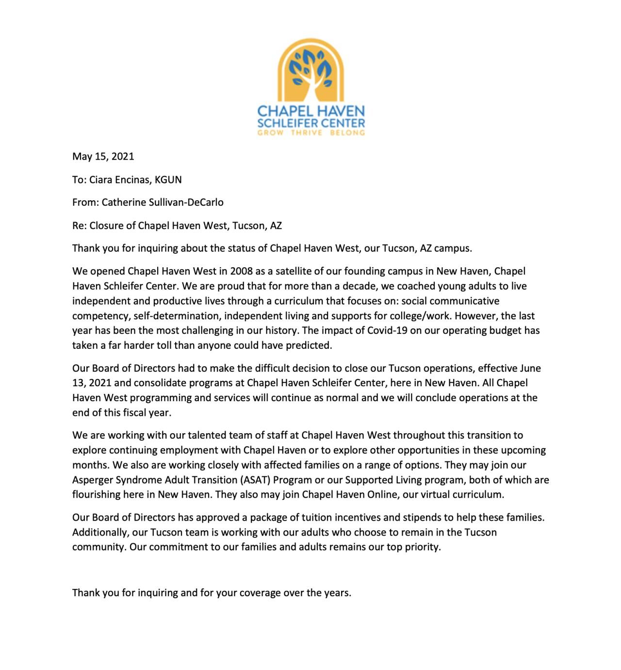 Chapel Haven West statement.jpg
