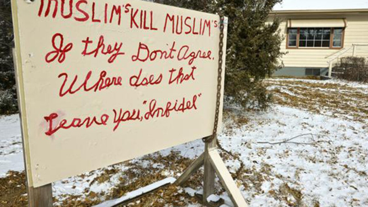 Longmont man takes down anti-Muslim sign after complaints