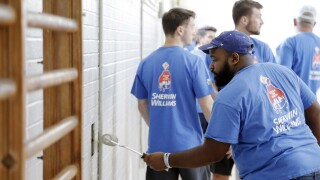 Sherwin-Williams National Painting Week Dallas Project