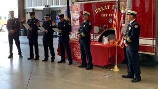 Firefighters earn promotions in Great Falls