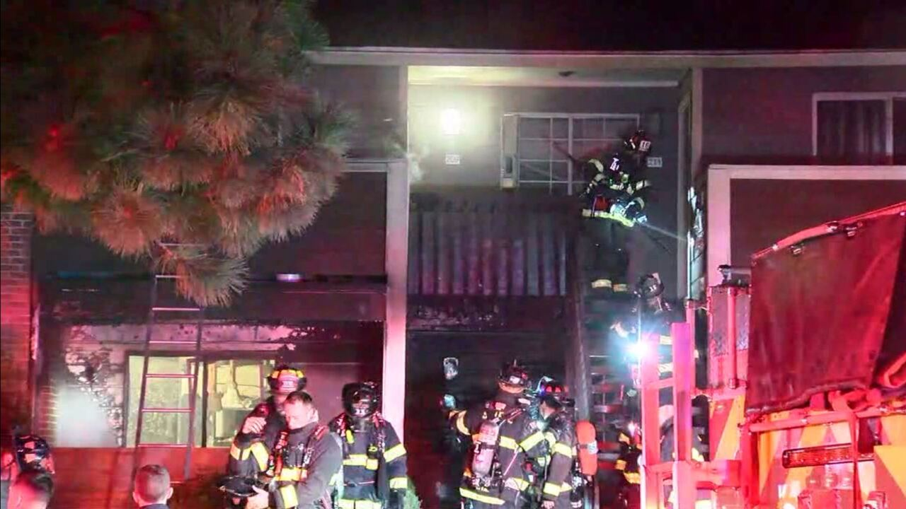 Fire at Verona apartments in Littleton