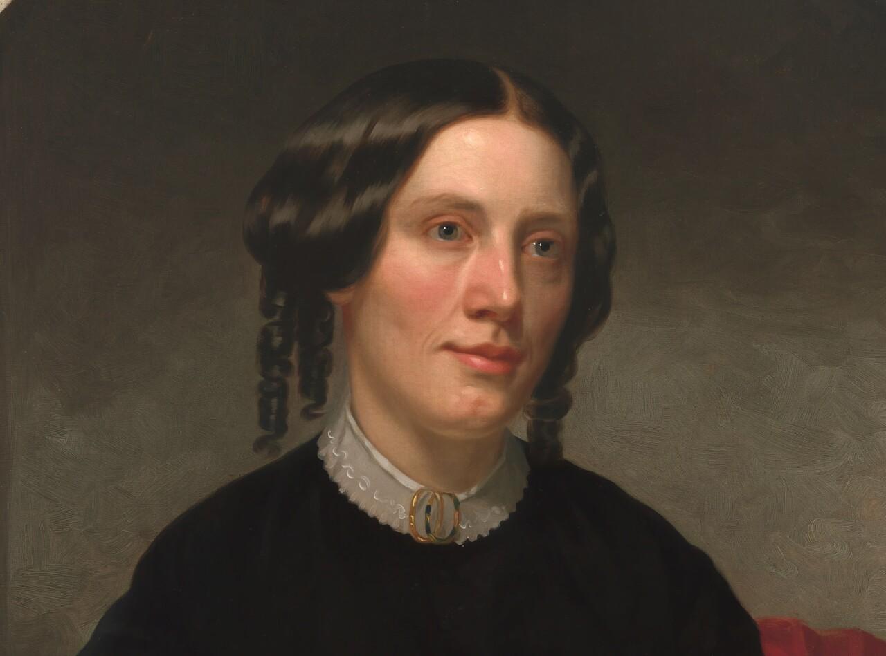 Portrait of Harriet Beecher Stowe by Alanson Fisher